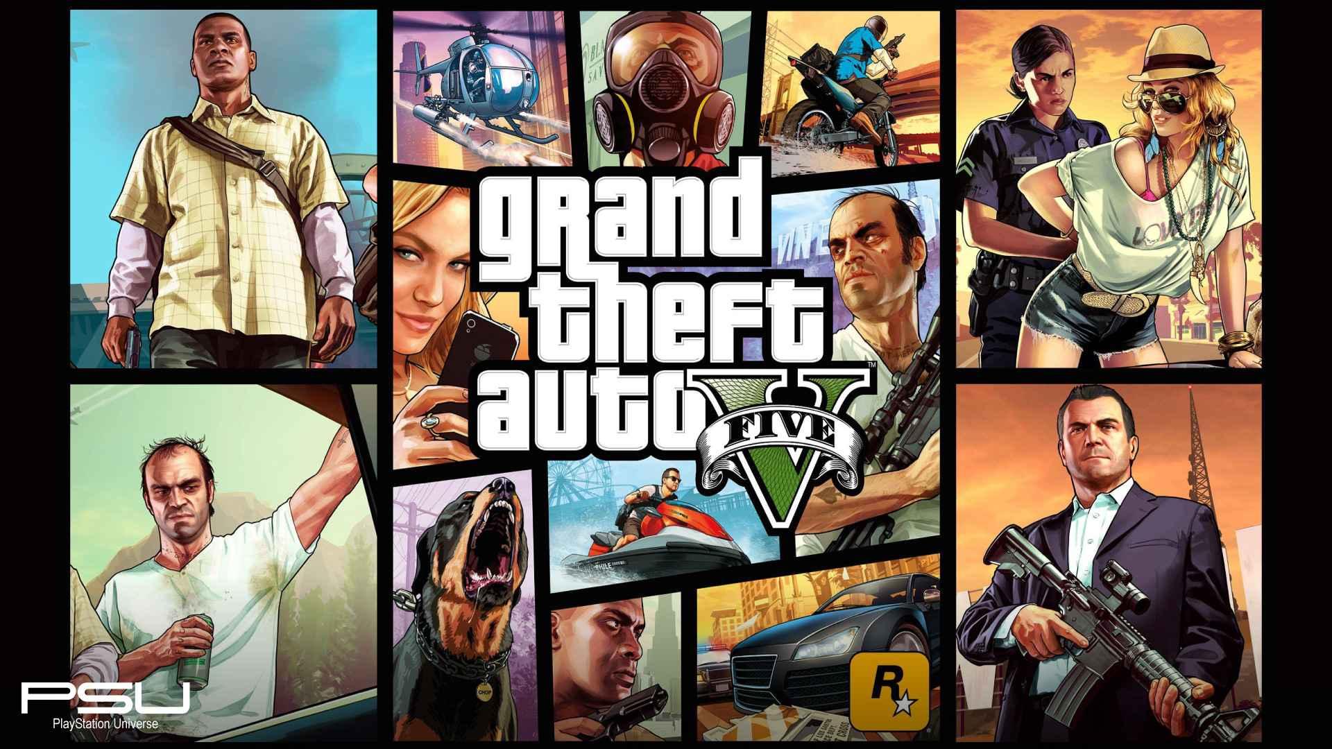 Grand Theft Auto 5 PlayStation Wallpaper