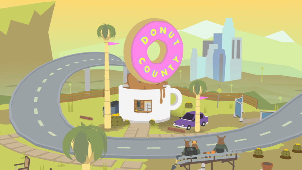 donut county trailer shown at psx 2017 playstation universe