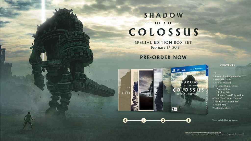 shadow of the colossus ps4 pro special edition