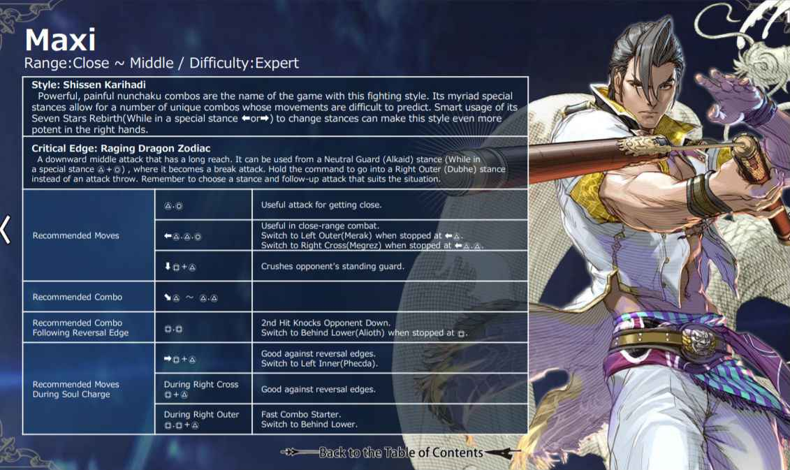 Tuned In Tokyo >> Soul Calibur 6 Move List For All Characters - PlayStation ...
