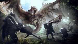 monster hunter world wyverian print