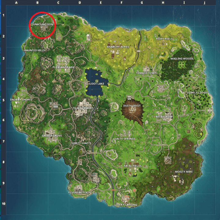 junk junction map