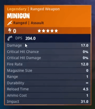 Fortnite Mini-Gun Stats Pack A Punch With Epic Damage - PlayStation