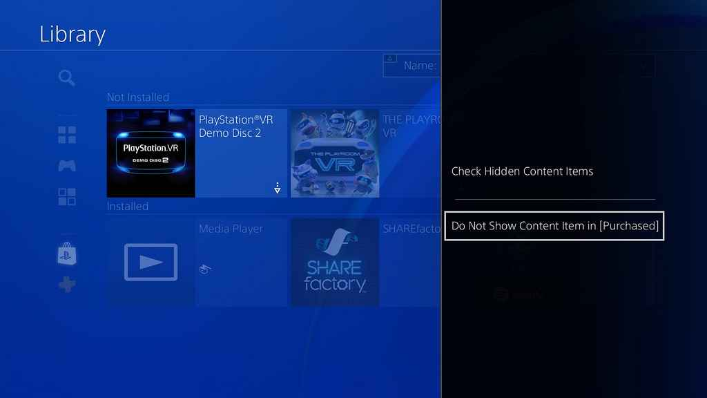 hide apps ps4 update 5.50