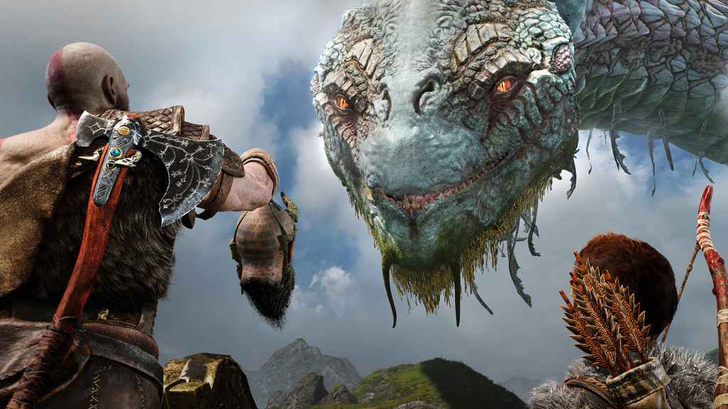 god of war ps4 snake