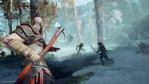 god of war kratos and atreus and dragon
