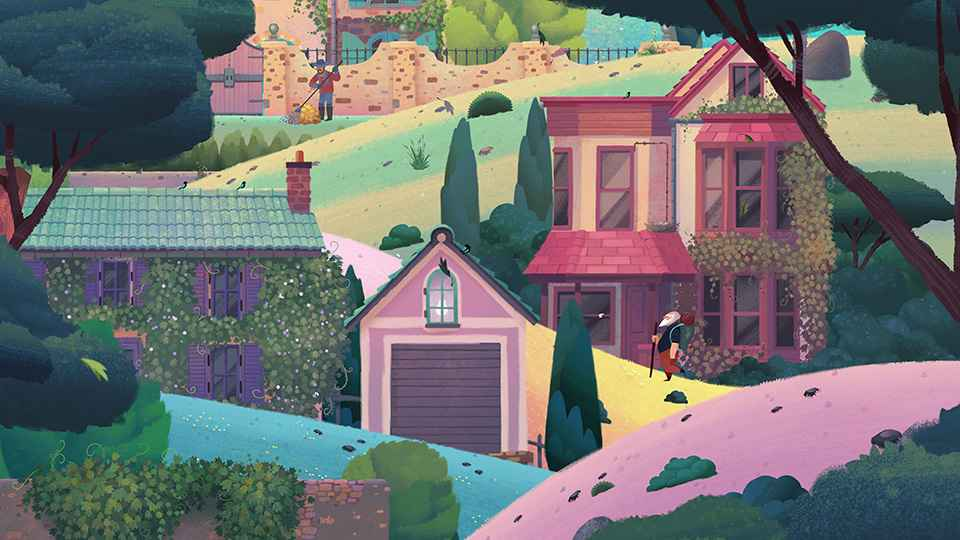 Explore an idyllic representation of the French countryside in Old Man's Journey