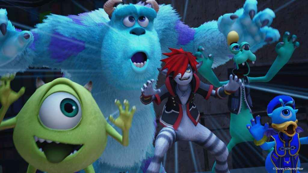 Sora sporting his 'monster' form in Kingdom Hearts 3
