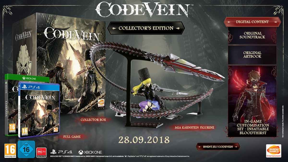 code vein release date CE