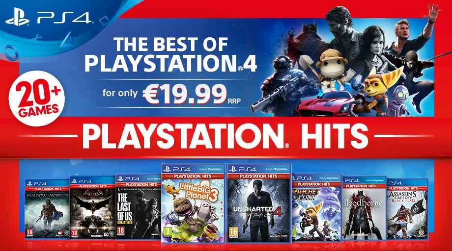 PlayStation Hits Range Announced For PS4