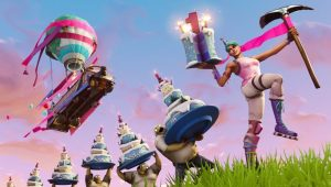 where are the fortnite birthday cakes