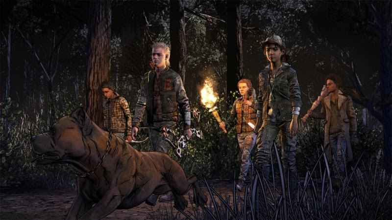 Clementine and her new friends as seen in the latest The Walking Dead: The Final Season trailer
