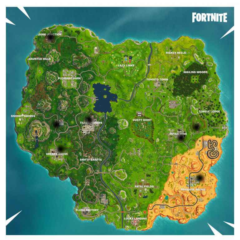 fortnite basketball locations all