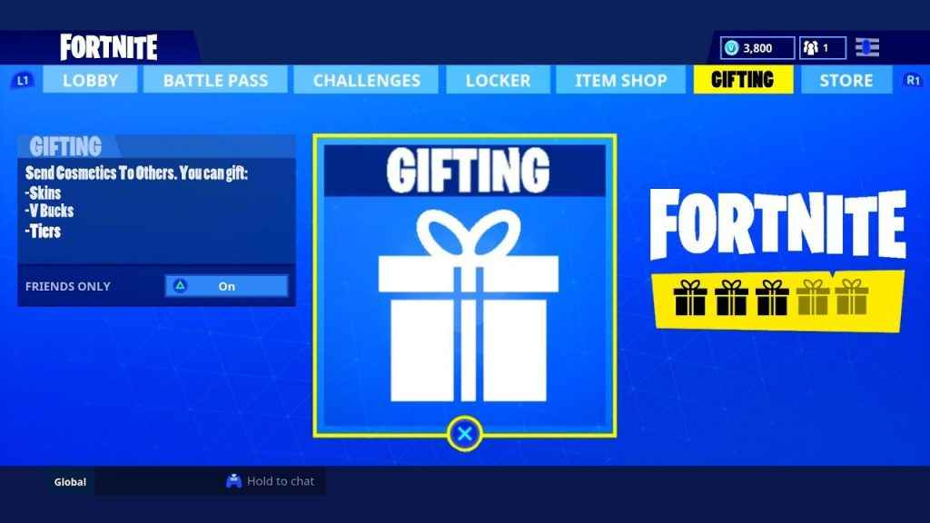 Fortnite Gifting System Release Date As Update 5.01 Arrives
