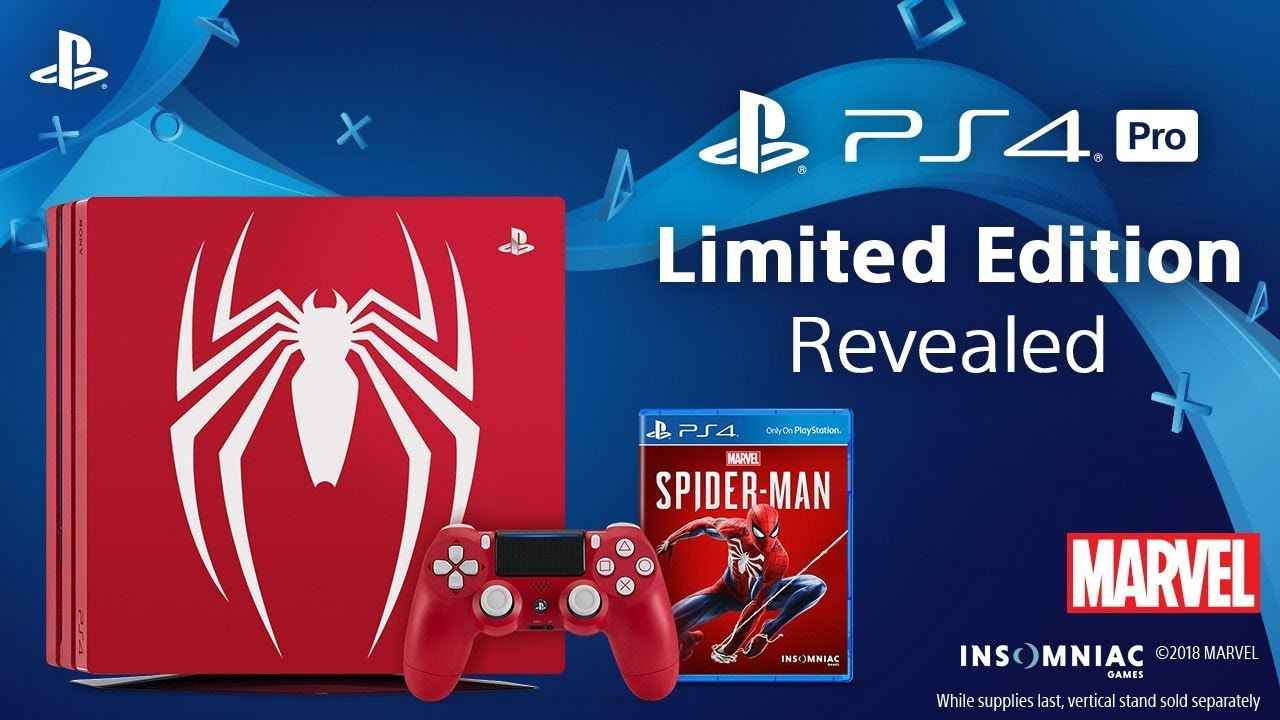 Spider-Man PS4 Pro Bundle – Amazing-Red Console Released