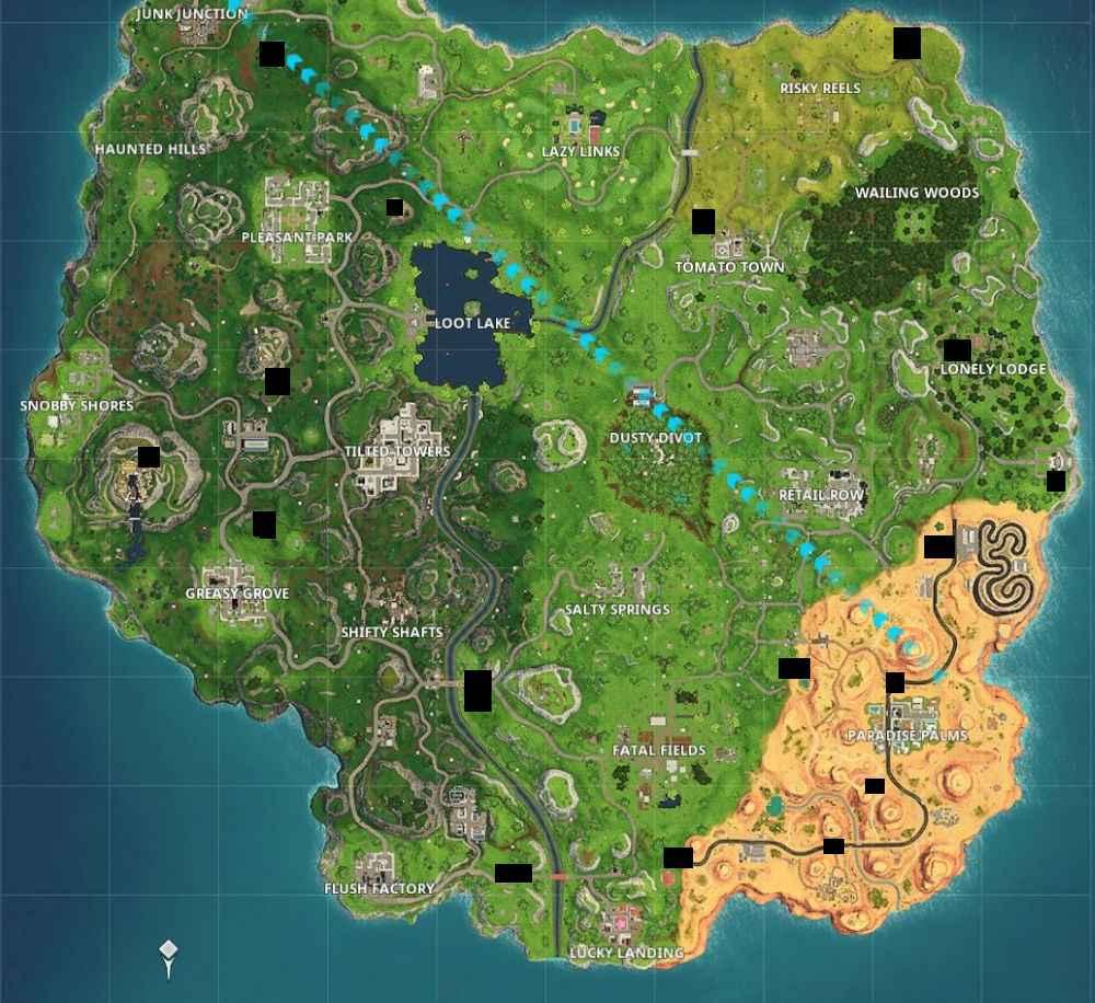 fortnite rift portal map