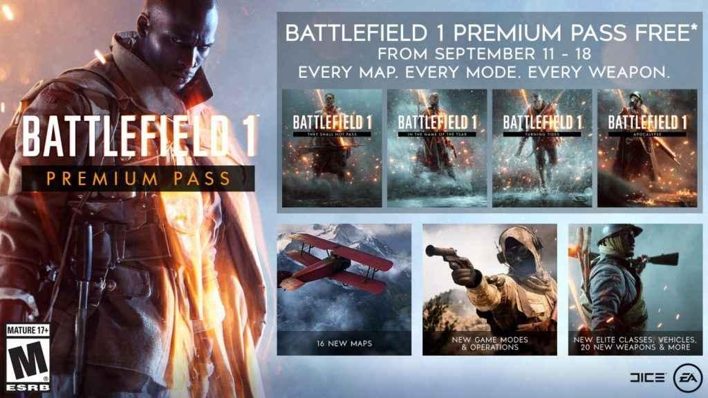 Battlefield 1 Premium Pass Giveaway