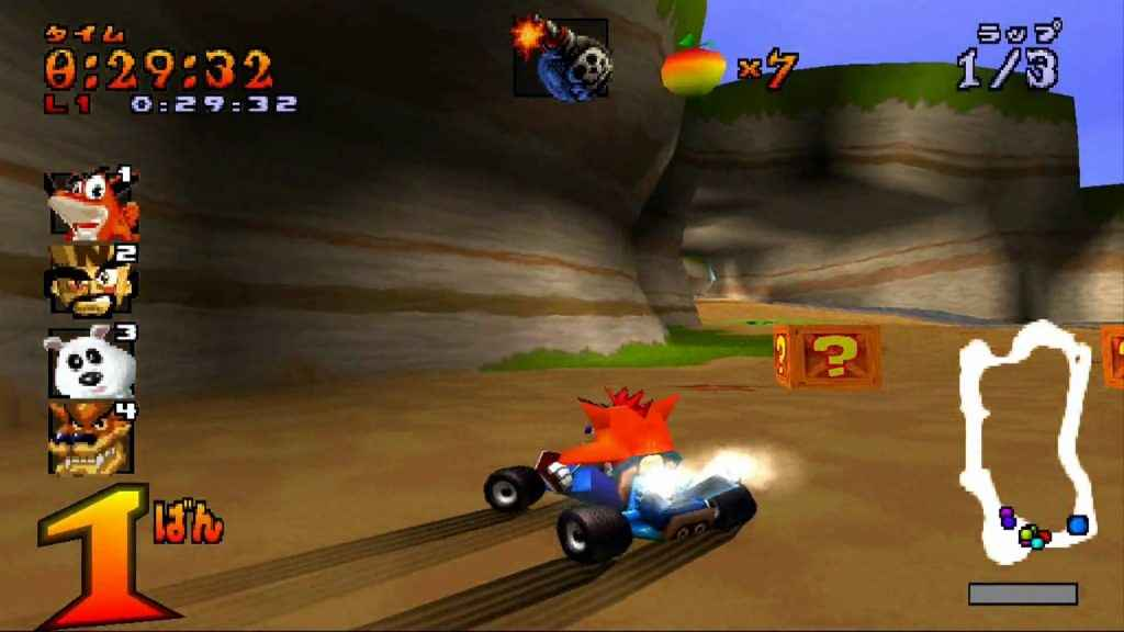 crash bandicoot racing ps4