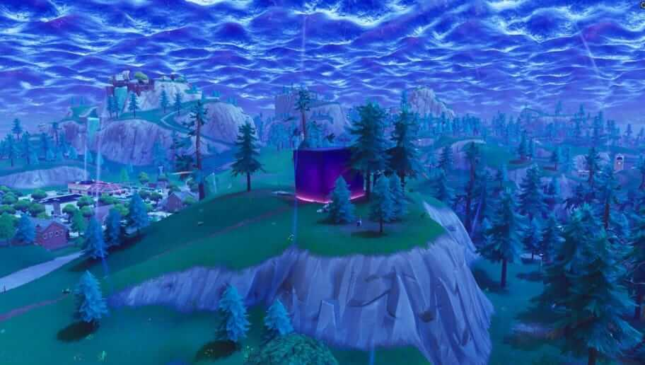 fortnite purple cube