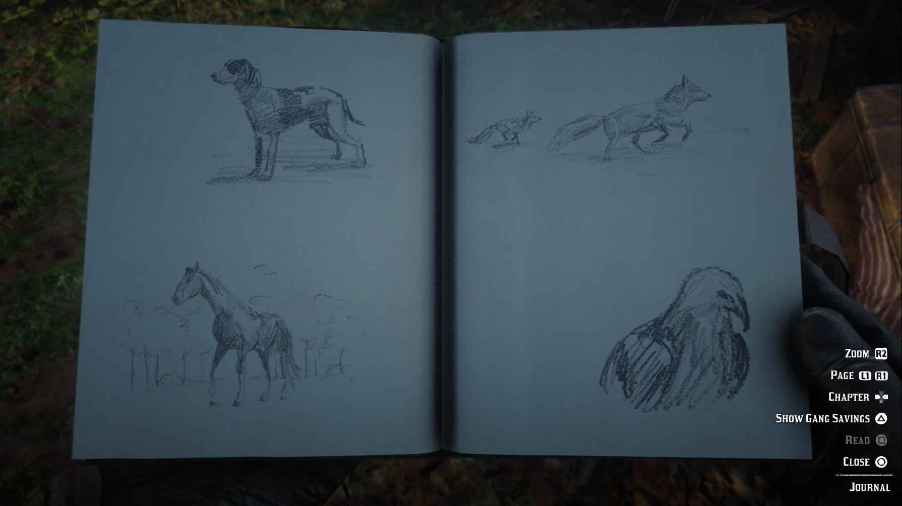 The drawings in Arthur's Journal are really good.