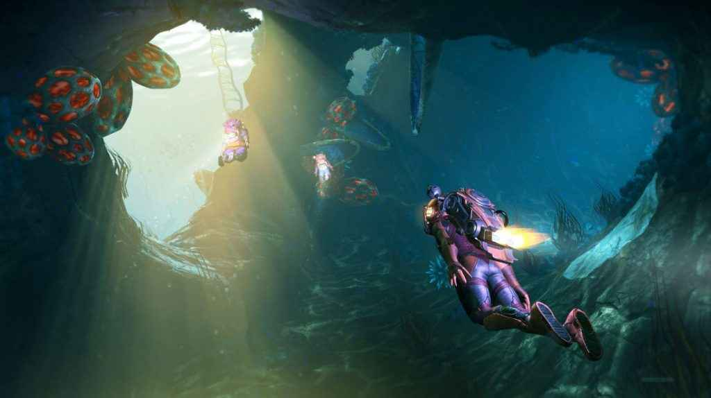 No Man's Sky The Abyss Reworks Underwater Environments.