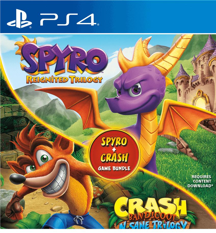 Crash Bandicoot N.Sane Trilogy and Spyro Reignited Trilogy Bundle