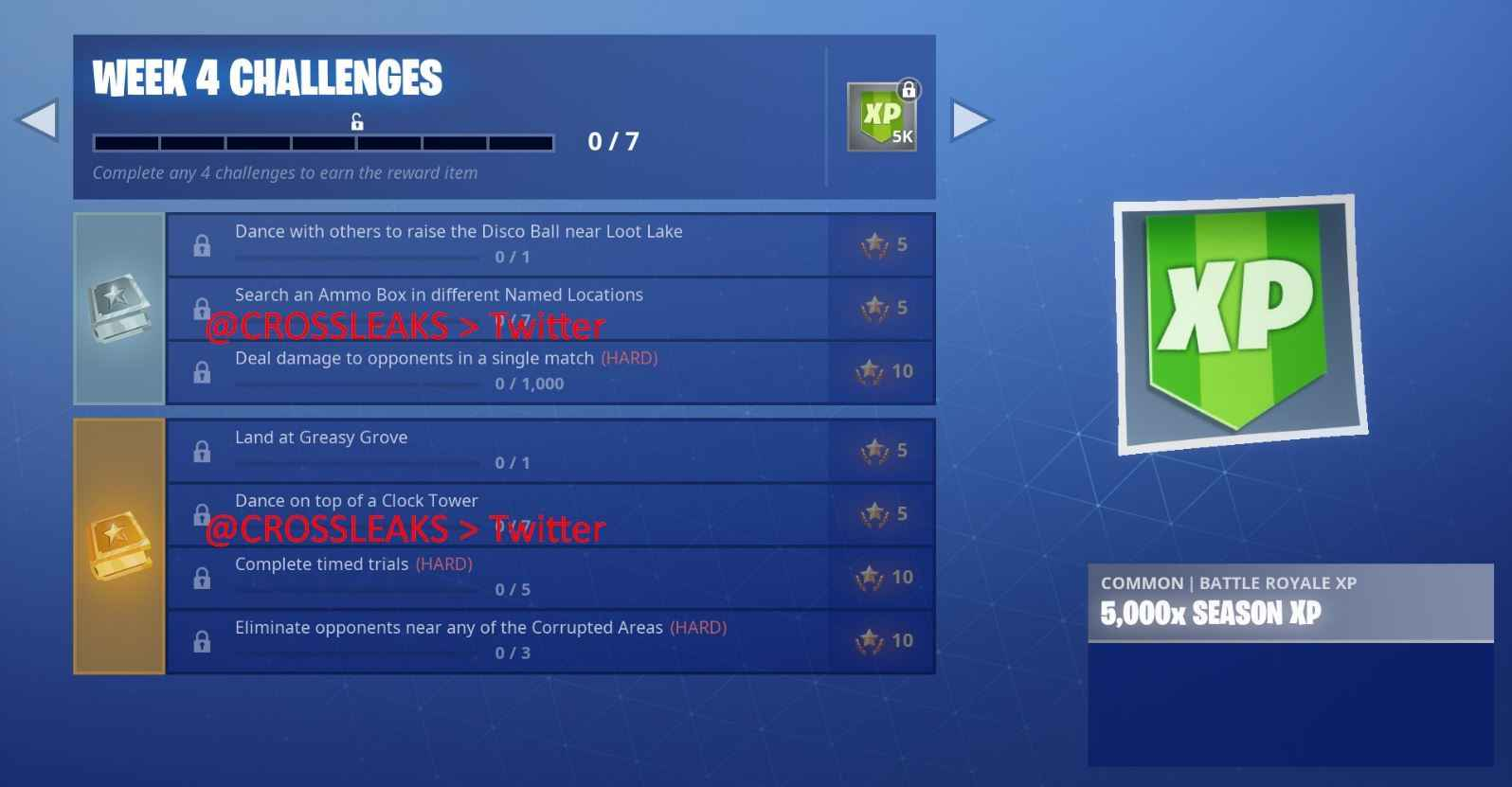 Fortnite Week 4 Challenges have leaked.