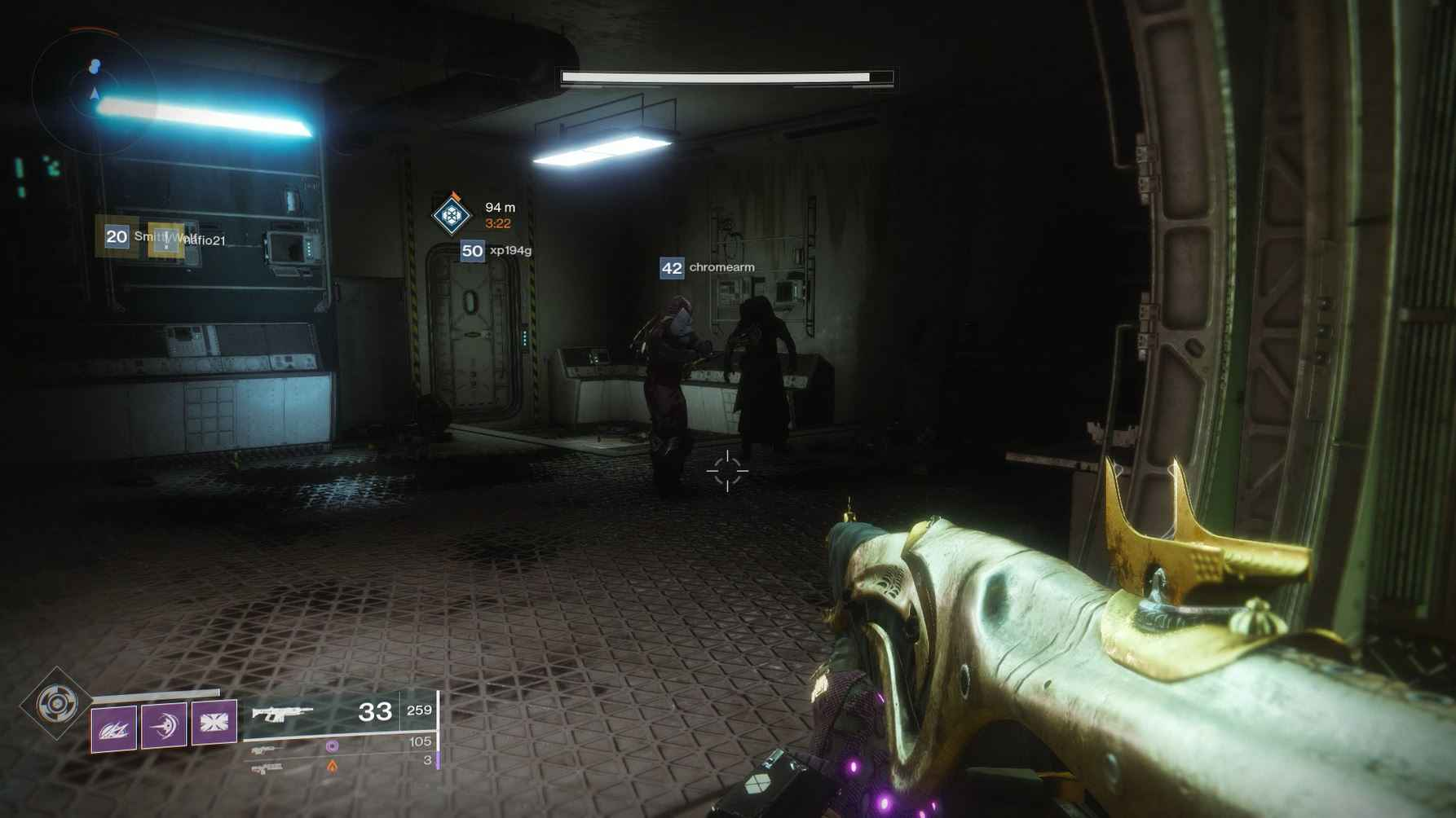 Where is Xur? Xur is in this dark room.