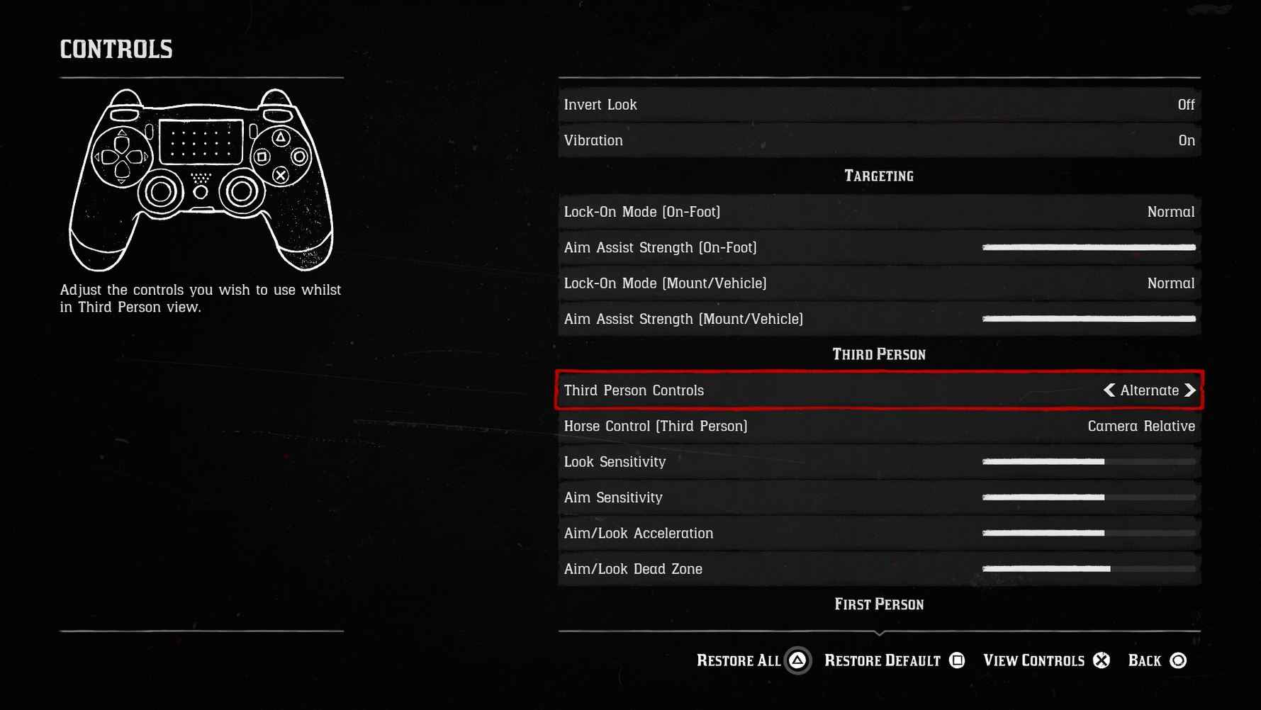 Red Dead Redemption 2 Dueling - Changing Your Control Scheme Fixes The Bug.