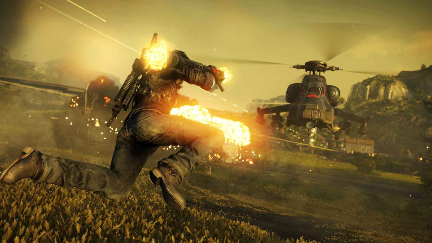The classic grapple is back in Just Cause 4.