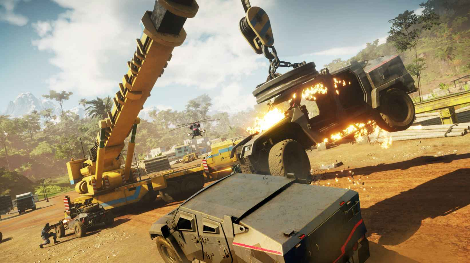 Stunts can be crazy in Just Cause 4.