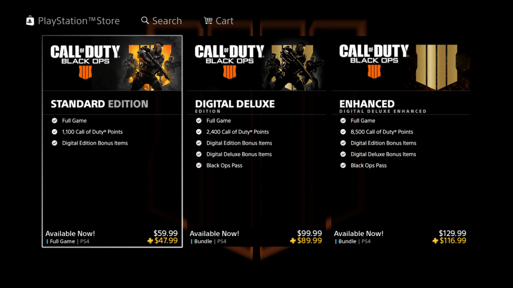 Black Ops 4 Black Friday discount, but it's early!