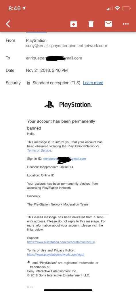 psn id banned