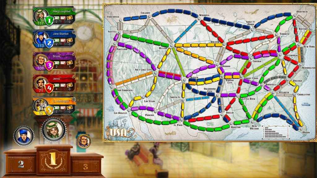 Best PS4 Playlink Games Ticket To Ride