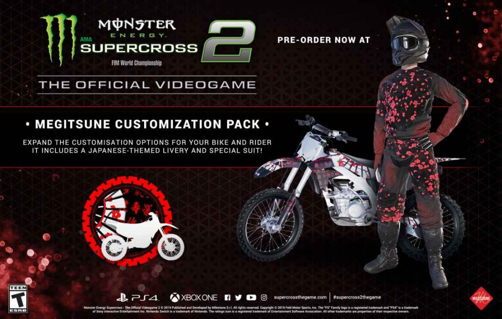 monster energy supercross 2 ps4 gameplay and pre order. Black Bedroom Furniture Sets. Home Design Ideas