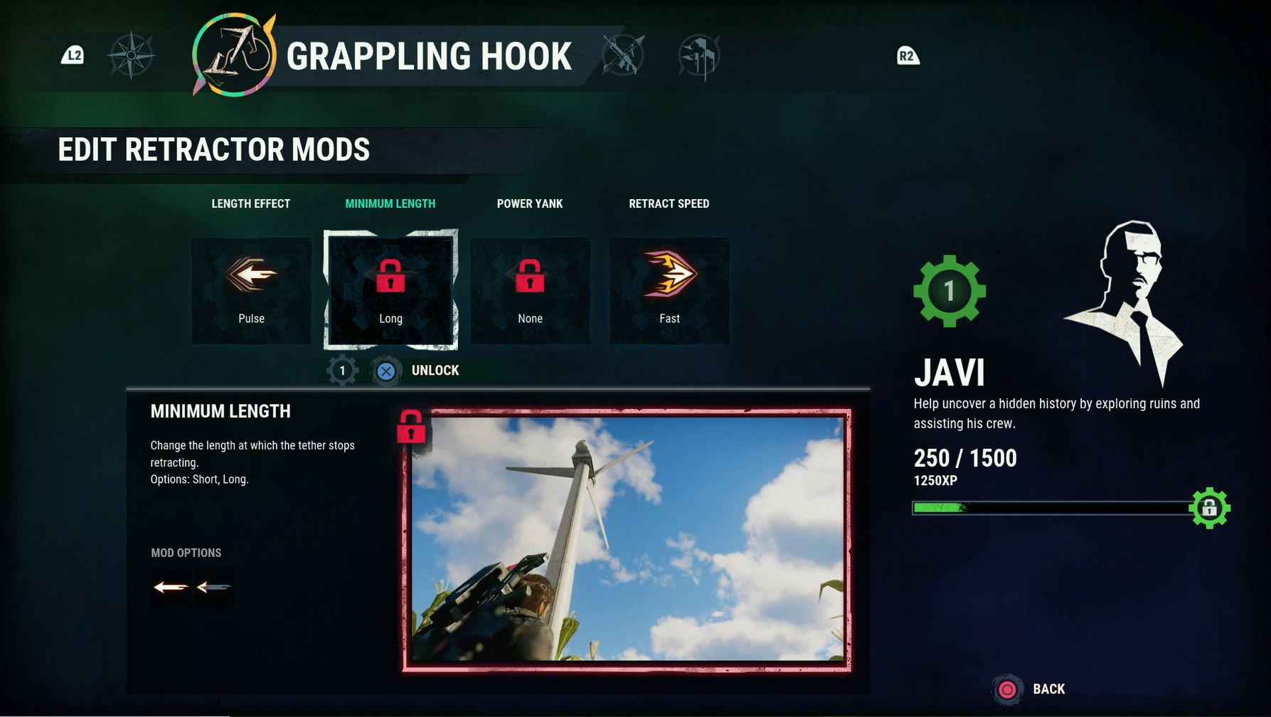 Just Cause 4 Review - Mods allow you to customise Rico's tools.