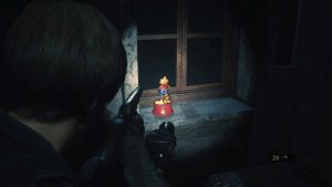 Resident Evil 2 Remake Raccoon Bobble Head 7 West of Clock Tower Room