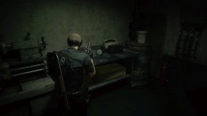 Resident Evil 2 Remake Inventory Pouch 5 Workroom Map