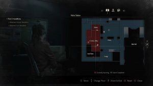 Resident Evil 2 Remake Raccoon Bobble Head 2 S.T.A.R.S. Office Map