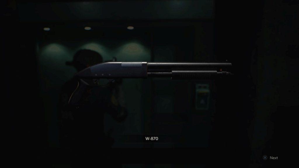 Resident Evil 2 Remake Weapon Shotgun