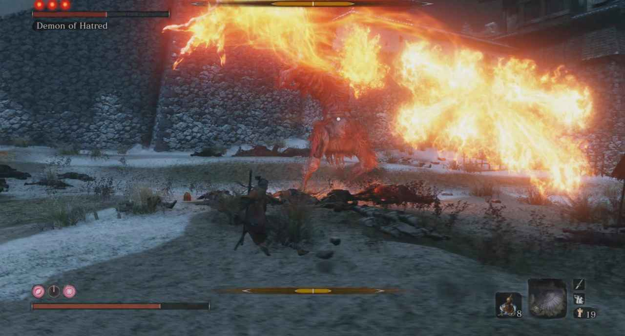 Sekiro: Shadows Die Twice Demon of Hatred Boss Guide - Ashina Outskirts