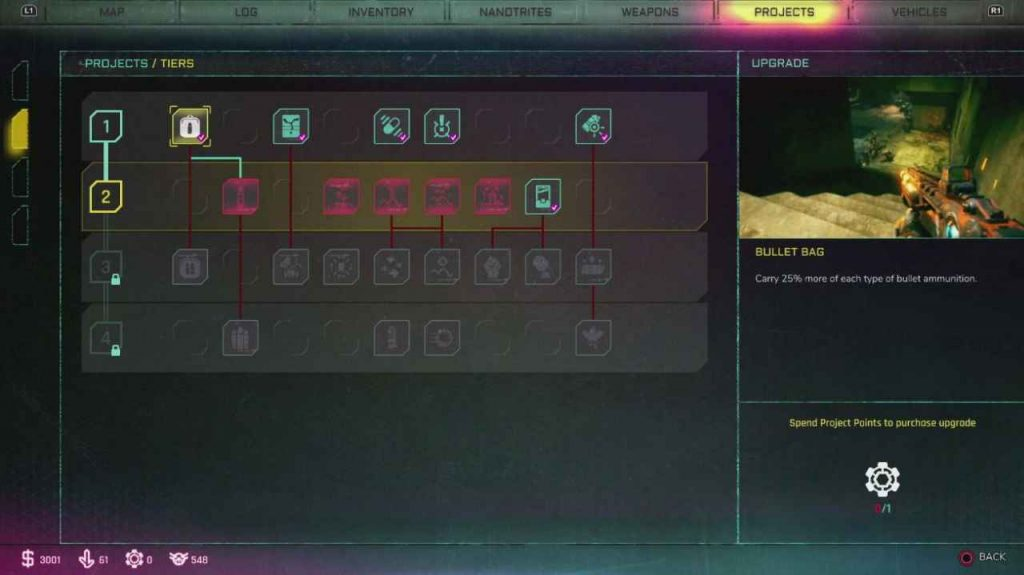 Rage 2: Projects Explained, How To Get Project Points, Projects To Buy First
