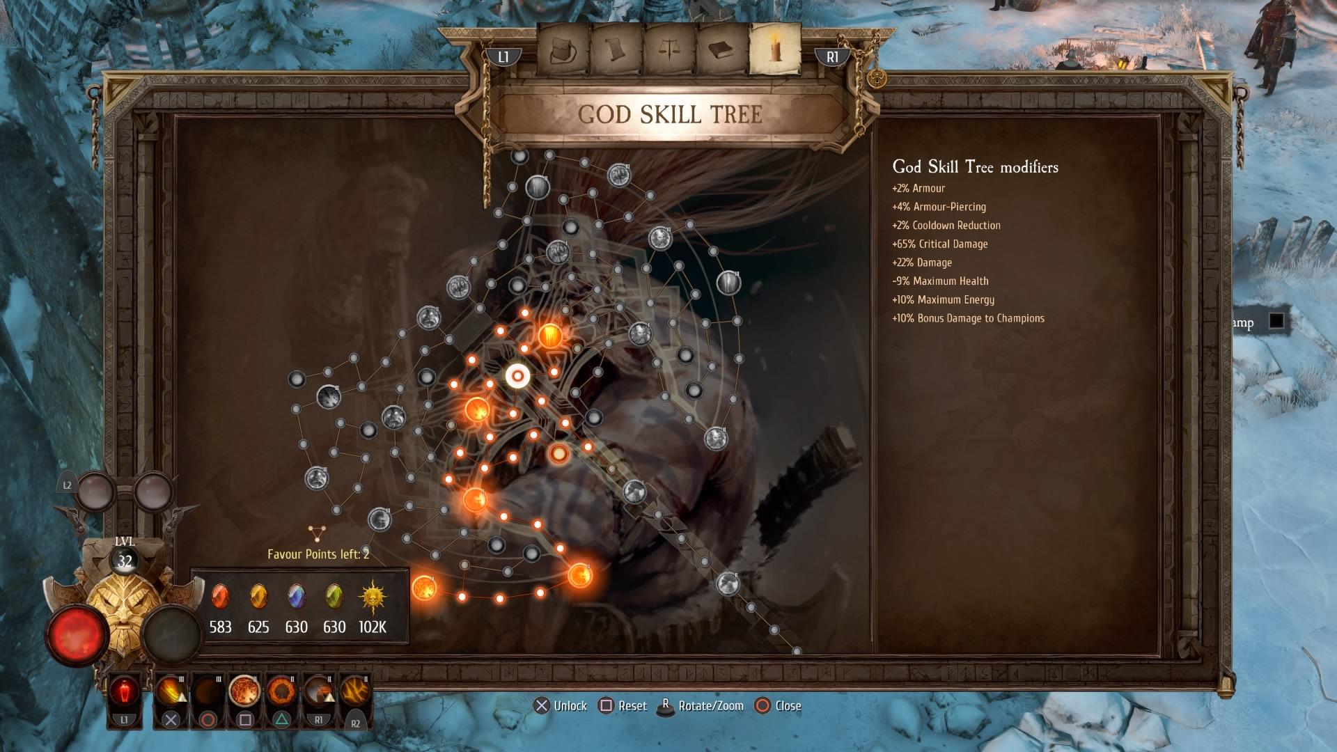 Warhammer Chaosbane God Skills