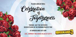 Borderlands 3 'Celebration of Togetherness' Possibly Teasing Crossplay