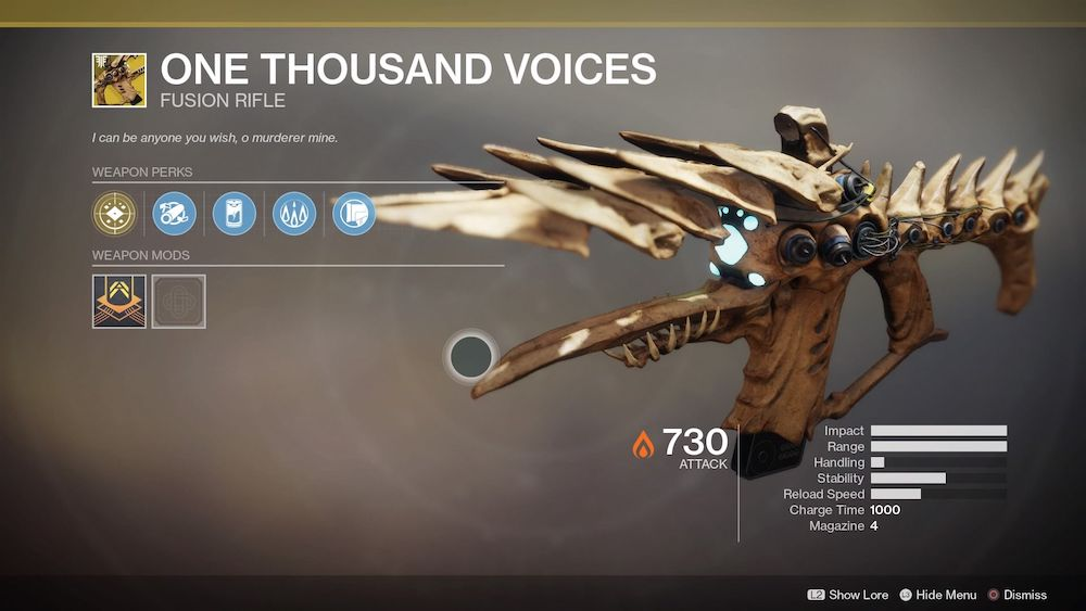 Destiny 2 How To Get One Thousand Voices Playstation Universe