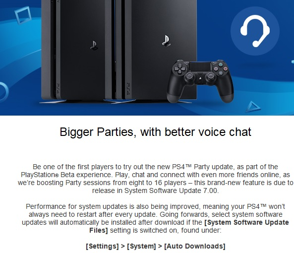 PS4 System Update 7.00 Details Revealed in Beta News
