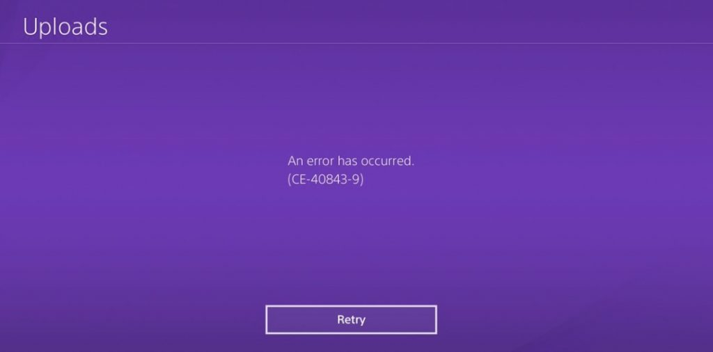 How To Solve PS4 Error code CE-40843-9 - PlayStation Universe