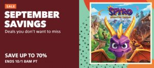 September Savings Sale PS4 Game Discounts
