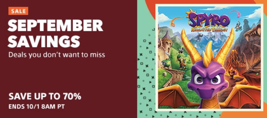 September Savings Sale PS4 Game Discounts