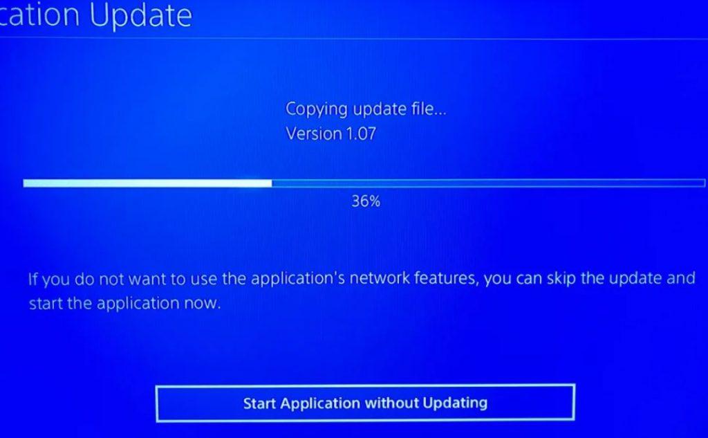 PS4 Copying Update Files